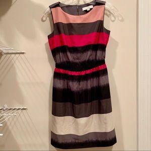 LOFT Sleeveless Striped Dress Size XSP EUC